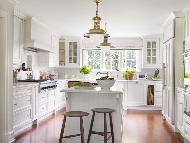 رنگ سفید ترفند بزرگتر نشان دادن آشپزخانه