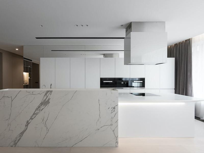 های گلاس سفید برای آشپزخانه